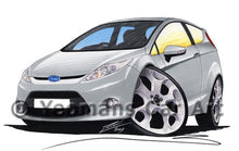 Load image into Gallery viewer, Ford Fiesta (Mk7) - Caricature Car Art Coffee Mug