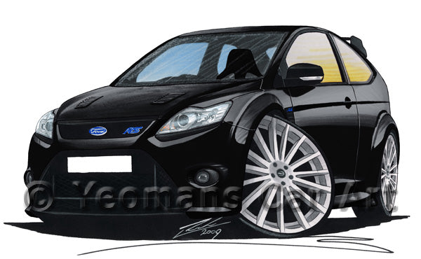 Ford Focus Mk2 Rs Caricature Car Art Print