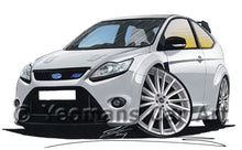 Load image into Gallery viewer, Ford Focus (Mk2) RS - Caricature Car Art Print