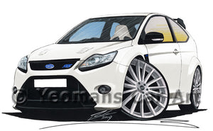 Ford Focus (Mk2) RS - Caricature Car Art Print