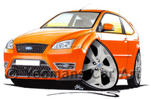 Load image into Gallery viewer, Ford Focus (Mk2) ST (3dr) - Caricature Car Art Print
