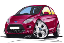 Load image into Gallery viewer, Ford Ka (Mk2) - Caricature Car Art Print