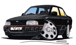 Ford Orion - Caricature Car Art Print