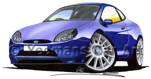 Ford Racing Puma - Caricature Car Art Print