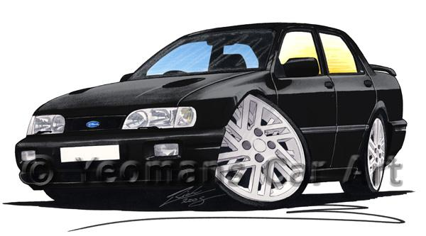Ford Sierra 4x4 Sapphire Cosworth - Caricature Car Art Coffee Mug