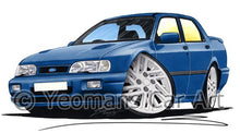Load image into Gallery viewer, Ford Sierra 4x4 Sapphire Cosworth - Caricature Car Art Coffee Mug