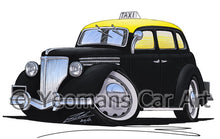 Load image into Gallery viewer, Ford V8 Taxi (Montevideo) - Caricature Car Art Print