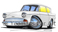 Load image into Gallery viewer, Ford Anglia 105e - Caricature Car Art Coffee Mug