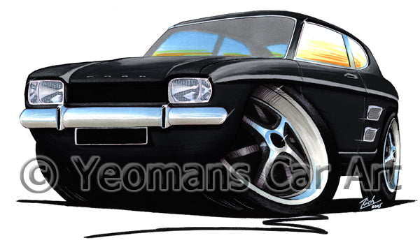 Ford Capri (Mk1) - Caricature Car Art Print