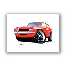 Load image into Gallery viewer, Ford Capri (Mk1) - Caricature Car Art Print