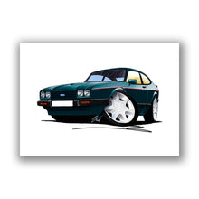 Load image into Gallery viewer, Ford Capri (Mk3) 280 Brooklands - Caricature Car Art Print