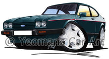 Load image into Gallery viewer, Ford Capri (Mk3) 280 Brooklands - Caricature Car Art Coffee Mug