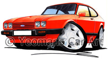 Load image into Gallery viewer, Ford Capri (Mk3) - Caricature Car Art Print