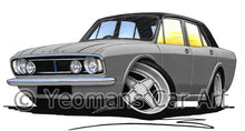 Load image into Gallery viewer, Ford Cortina (Mk2) - Caricature Car Art Coffee Mug