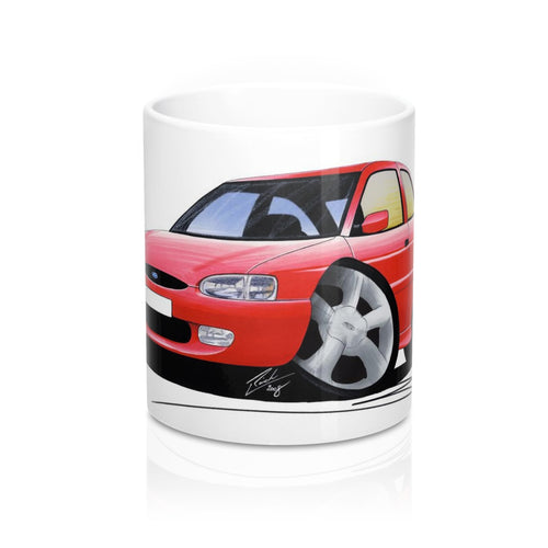 Ford Escort (Mk7) GTi (3dr) - Caricature Car Art Coffee Mug