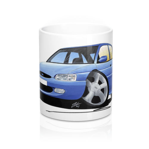 Ford Escort (Mk7) GTi (5dr) - Caricature Car Art Coffee Mug