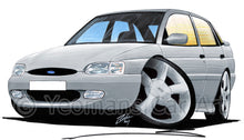 Load image into Gallery viewer, Ford Escort (Mk7) GTi (5dr) - Caricature Car Art Print