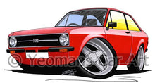 Load image into Gallery viewer, Ford Escort (Mk2) - Caricature Car Art Coffee Mug