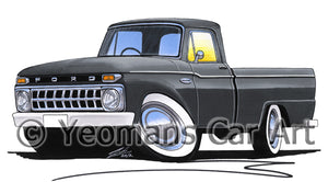 Ford F-100 - Caricature Car Art Print