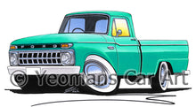 Load image into Gallery viewer, Ford F-100 - Caricature Car Art Print