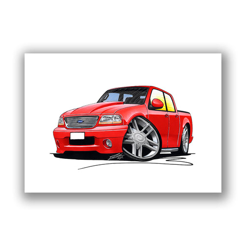 Ford F-150 - Caricature Car Art Print