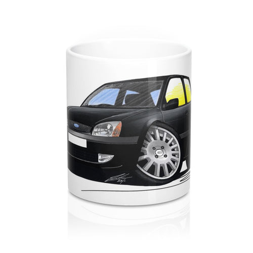 Ford Fiesta (Mk5) Black Edition - Caricature Car Art Coffee Mug