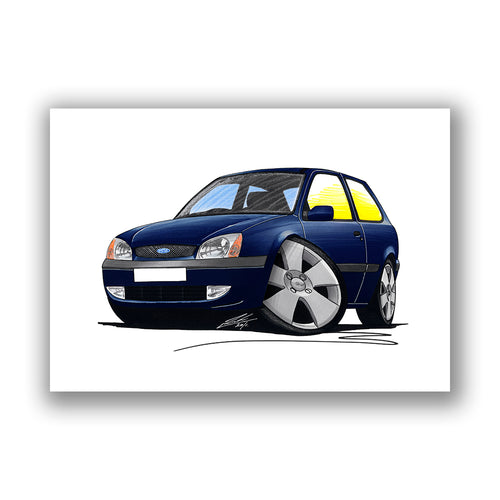 Ford Fiesta (Mk5) - Caricature Car Art Print