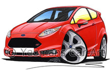 Load image into Gallery viewer, Ford Fiesta (Mk7) ST - Caricature Car Art Coffee Mug