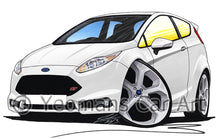 Load image into Gallery viewer, Ford Fiesta (Mk7) ST - Caricature Car Art Print
