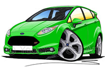Load image into Gallery viewer, Ford Fiesta (Mk7) ST (5dr) - Caricature Car Art Print