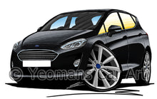 Load image into Gallery viewer, Ford Fiesta (Mk8) (5dr) - Caricature Car Art Print