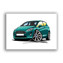 Load image into Gallery viewer, Ford Fiesta (Mk8) (3dr) - Caricature Car Art Print