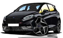 Load image into Gallery viewer, Ford Fiesta (Mk8) ST (5dr) - Caricature Car Art Print