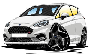 Ford Fiesta (Mk8) ST (3dr) - Caricature Car Art Coffee Mug
