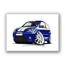Load image into Gallery viewer, Ford Fiesta (Mk6)(Facelift) ST - Caricature Car Art Print