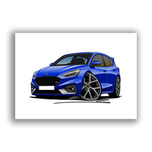 Load image into Gallery viewer, Ford Focus (Mk4) ST - Caricature Car Art Print