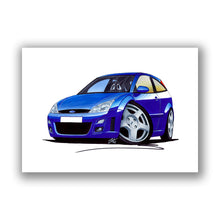 Load image into Gallery viewer, Ford Focus (Mk1) RS - Caricature Car Art Print