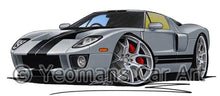 Load image into Gallery viewer, Ford GT - Caricature Car Art Coffee Mug