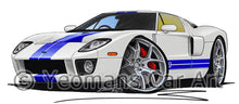 Load image into Gallery viewer, Ford GT - Caricature Car Art Print