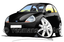 Load image into Gallery viewer, Ford Ka (Mk1) - Caricature Car Art Print