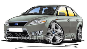 Ford Mondeo (Mk4) X-Sport - Caricature Car Art Coffee Mug