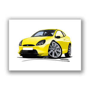 Ford Puma Millennium Edition - Caricature Car Art Print