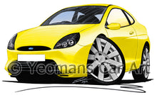 Load image into Gallery viewer, Ford Puma (9-Spoke Wheels) - Caricature Car Art Print