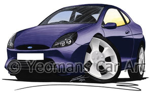 Ford Puma - Caricature Car Art Coffee Mug