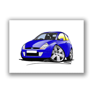 Ford SportKa - Caricature Car Art Print