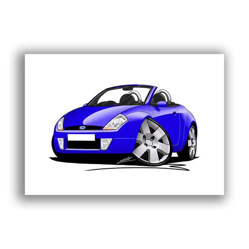Ford StreetKa - Caricature Car Art Print