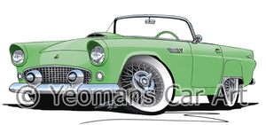 Ford Thunderbird - Caricature Car Art Print