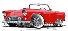 Load image into Gallery viewer, Ford Thunderbird - Caricature Car Art Print