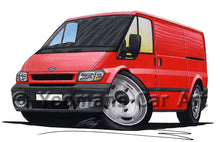 Load image into Gallery viewer, Ford Transit (Mk6) - Caricature Car Art Print