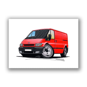 Ford Transit (Mk6) - Caricature Car Art Print